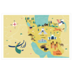 IRAN // Poster Map A4